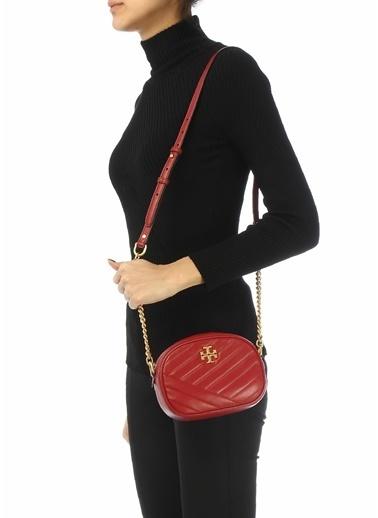 Tory Burch Tory Burch  Logo Detaylı Kadın Deri Omuz Çantası 101623965 Kırmızı